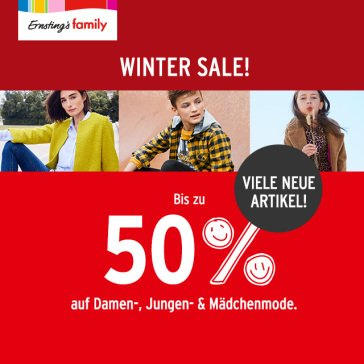 Winter-Sale bei Ernsting's family